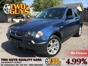 2005 BMW X3 2.5i AWD NICE LOCAL TRADE IN!!