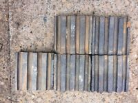 reclaimed blue bricks, stable bricks, with grooves x 74 available
