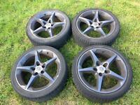 "Vauxhall 5x110 18"" penta alloy wheels Astra,corsa,vectra,zafera mk3 mk4 mk5"