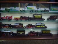 Model truck and car collection 5 display cabinets and a Billy Smart big top circus and truck ltd edi
