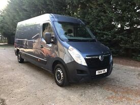 vauxhall movano long wheel base, high roof 125ps with low mileage and new mot