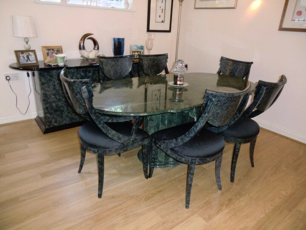 Green Marble Complete Dining Room Set In Worthing West Sus Gumtree
