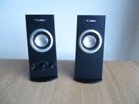 Labtec Spin 95 Computer PC Speakers - As New Condition