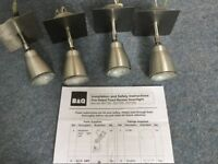 7 Ceiling or Wall lights (B & Q )