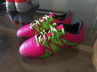 Firm ground adidas football boots kids size UK13