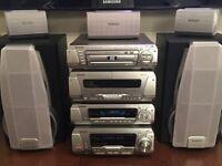 Technics Stereo System, Cassette, CD, DVD Player