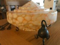 Vintage Flycatcher Glass Ceiling Lampshade