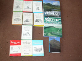 Wainwright Books of Lakeland Fells, Full Set of 7 books, and 6 more Wainwright books