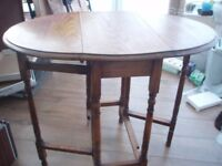 Table with fold down wings