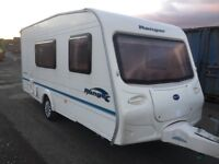 Bailey ranger 2005 4 berth end wash room separate toilet cassette toilet hot and cold running