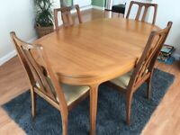 Nathan Dining Table and 4 matching chairs. Nathan 4 drawer sideboard and Corner Unit