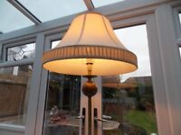 BRASS STANDARD LAMP WITH SHADE FOR SALE