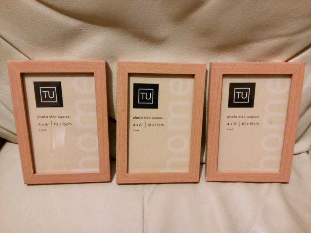 Photo frames set of 6 matching wooden frames