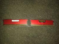 Corsair Vengeance LPX 8GB Memory kit in Red