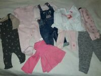 Baby girls clothes 3-6m
