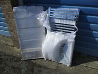 Modern Chrome Square Bar Towel Radiator 1200 x 600 - New Boxed