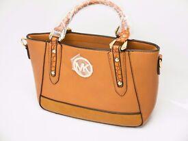 MICHAEL KORS brown leather handbag shoulder bag tote