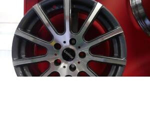 17 INCH NEW GUNMETAL RIMS - 5X112 - FITS /MERCEDES/AUDI/VW