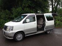97/2002 NISSAN ELGRAND TD 4WD SIX SEATER/ DAY VAN/CAMPER/MPV/HI SPEC/LOW MILES MAZDA BONGO VW T4/ T5