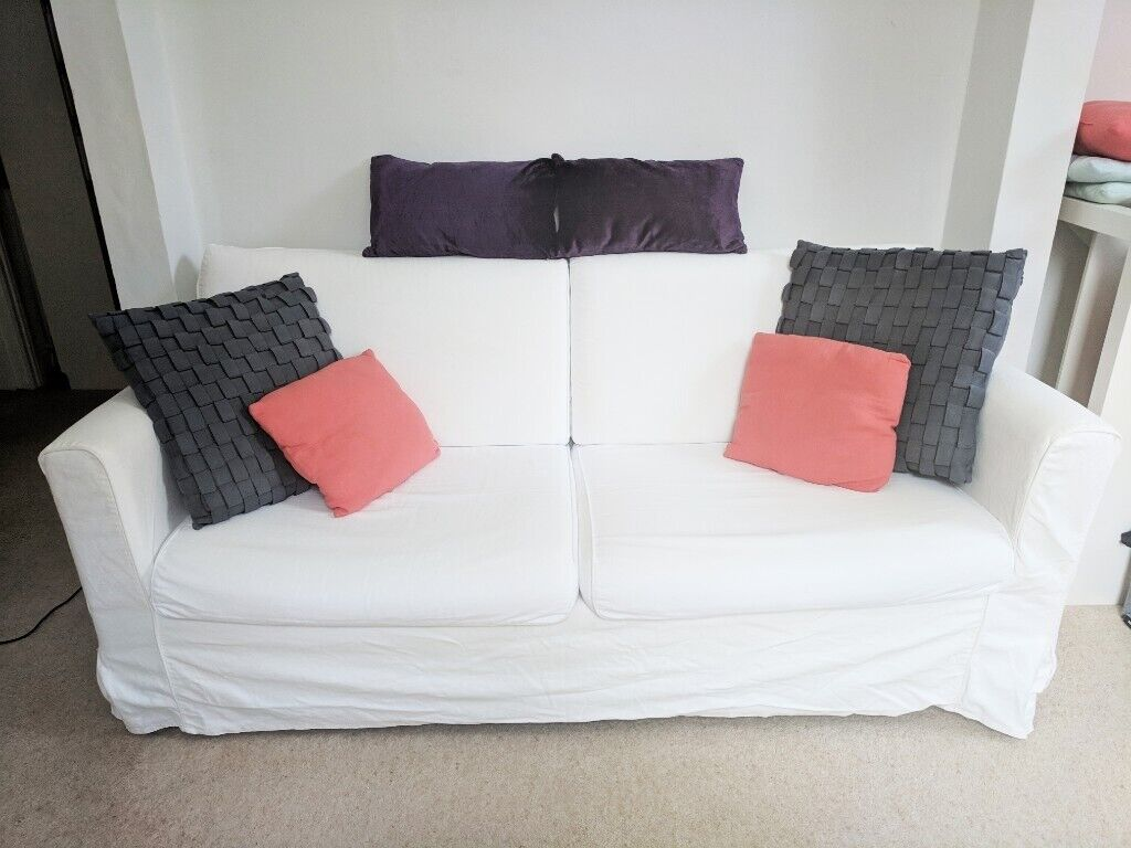 Awesome Ikea Sofa White Three Seater 3 Person Seat With Washable Covers Urgent Comfortable Chair Comfy Suite In Bournemouth Dorset Gumtree Download Free Architecture Designs Parabritishbridgeorg