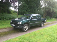 Isuzu Rodeo pick up 4x4 2.5td double cab, brava pickup
