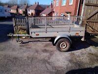 Brenderup 750kg, galvanised single wheeled trailer.