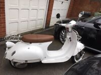 Cool retro AJS Modena scooter 125cc - 2016 reg, only 104 miles