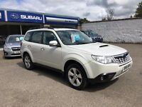 2011 Subaru Forester 2.0 Diesel XC Manual White Lovely Condition Low Mileage was £9495