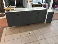 5 door cabinet glossy grey