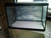 SuperFish glass aquarium with accessories - just add water and fish!