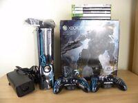 Limited Edition Halo 4 Microsoft Xbox 360 Slim Black Console 320GB Boxed Skyrim