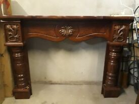 Mahogony fire surround for sale