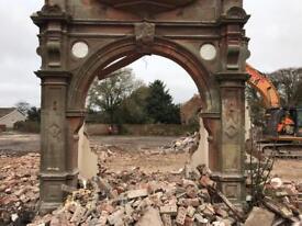 Victorian sandstone arch