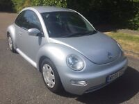 BEETLE 1.6 55 REG IN SILVER ONLY 77,400 MILES WITH SERVICE HISTORY AND MOT JAN 2018..07867955762