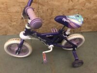 Child's bike for sale - stabilisers attached