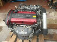 mitsubishi evo lancer 7 8 engine complete with turbo