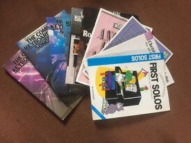 10 assorted keyboard music books