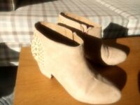 Beige Suede Forever21 Heels, size 2-3