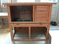 BTM 2-Tier Double-Decker Small Animal Hutch with Sliding Tray
