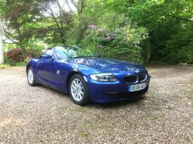 BMW Z4 2.0i SE Montego Blue / Cream Leather