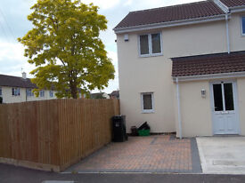 Very nice modern 2 bedroom house in Priorswood - off street parking & small garden - available 7 Jan
