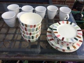 Plates, cups, bowls