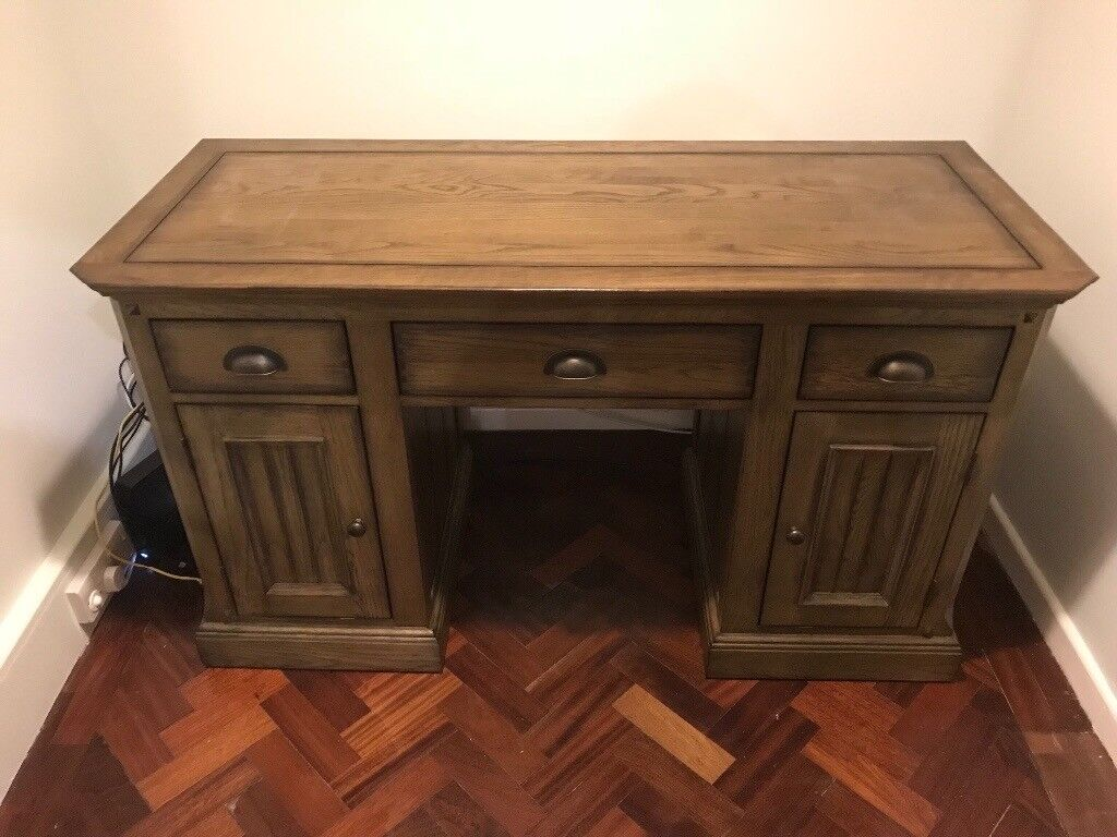 solid oak office desk. Manor House Vintage Solid Oak Office Desk