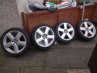 "audi/vw seat rs 6 18""alloy wheels"