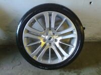 ALLOYS X 4 OF 20 INCH GENUINE RANGEROVER HST STYLE FULLY POWDERCOATED INA STUNNING DUTCH SILVER NICE