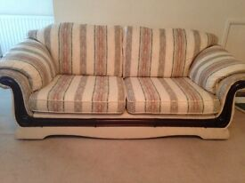 3 Seater sofa 2 Armchairs & Footstool