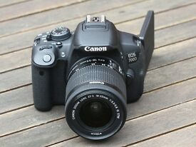 CANON EOS 700D BRAND NEW WITH CASE , LENSES AND 32 GBCARD