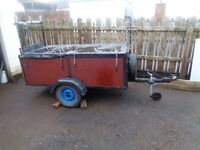CAR TRAILER == 6ft x 3ft == GREAT CONDITION == £150 NO OFFERS