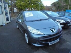 PEUGEOT 207 SE HDI 90 1560cc TURBO DIESEL 5 DOOR HATCH 2007-07, ONLY 92K FROM NEW,