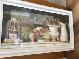 Pretty picture in frame cost £120 except £20